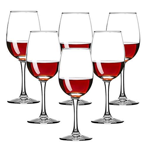 Z·Bling Copas de Vino Tinto,Cristalería Copas de Vino Personalizada Juego 6 Piezas en Forma Clásica,Vidrio Transparente sin Plomo Soplado a Mano para Vino Tinto,Vino Blanco,Espumoso - 270 ML