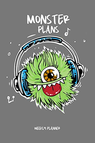 Monster Plans - Weekly Planner: Academic Undated 2 Year School Calendar, Diary and Homework Organizer for Elementary, Middle and High School