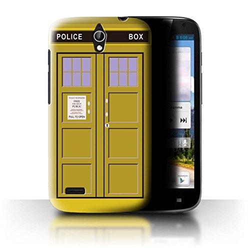 Hülle Für Huawei Ascend G610 Tardis Handyzelle Kunst Gelb Design Transparent Ultra Dünn Klar Hart Schutz Handyhülle Hülle