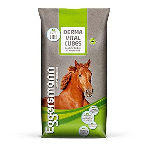 Eggersmann Derma Vital Cubes – Ergänzungsfuttermittel Pferd Haferfrei – Zusatzfutter gegen Hautprobleme – 25 kg Sack