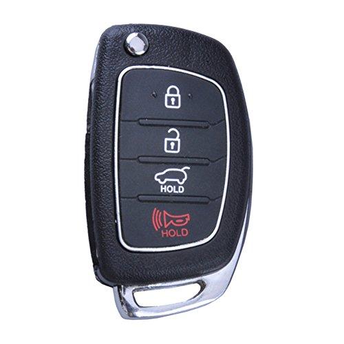 Pack 2 Horande Replacement Folding Remote Control Key Fob Case fits for 2013 2014 Hyundai Santa Fe Sonata Key Fob Shell No Chip