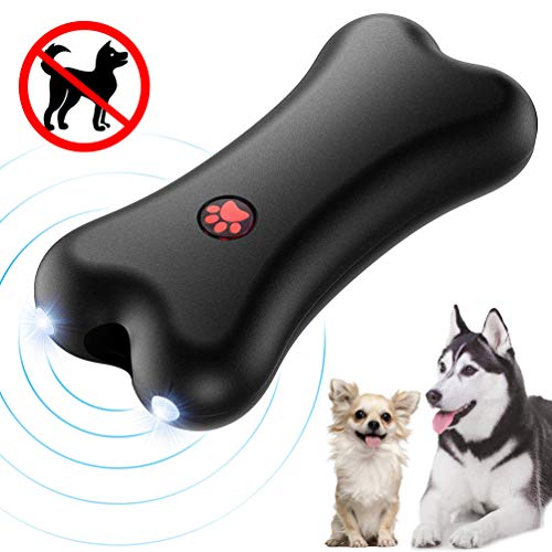petacc Anti-Bell-Gerät für Hunde, Ultraschall Anti-Bell-Mittel für Hunde Bellkontrolle 100{2c31d5b7ddb5aec5d891d0b282dcdf25cc0cebd8b3117ae83f502e62382f7f08} Sicher, Handheld Trainingsgerät für Hunde im Freien, 5 Meter Regelbereich Wiederaufladbarer mit LED-Licht