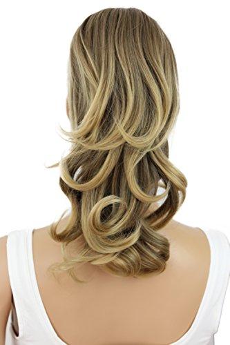PRETTYSHOP 30cm Haarteil Zopf Pferdeschwanz Haarverlängerung Voluminös Gewellt Braun Blond Mix H125