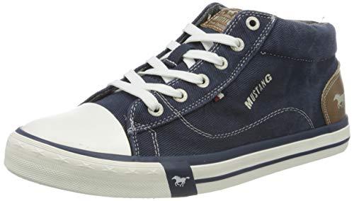 MUSTANG Herren 4072-505-841 Hohe Sneaker, Blau (Jeansblau 841), 42 EU