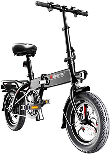 Bike,Fast Electric Bikes for Adults Lightweight Magnesium Alloy Material Folding Portable Easy to Store E-Bike 36V Lithium Ion Battery with Pedals Power Assist 14 inch Wheels 280W Powerful Moto