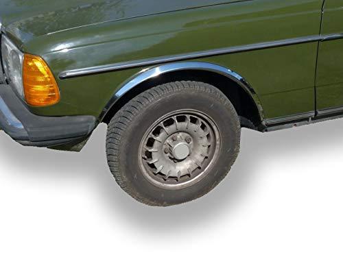 Benz W123 4DR 1976-1985 Radlauf Zierleisten Neu Chrom (Chrom)