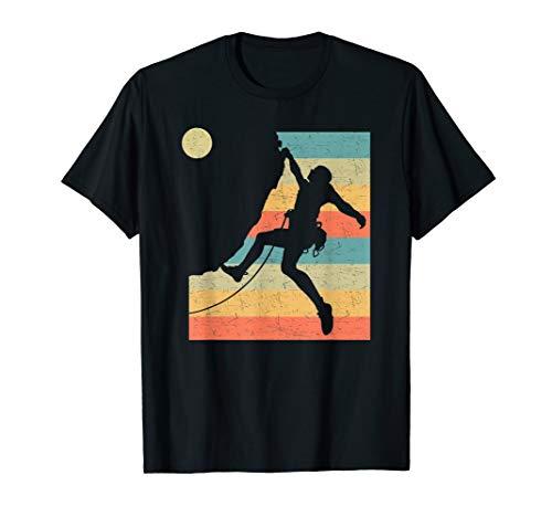 Vintage Bergsteiger Klettern Kletterer Berge Bouldering T-Shirt