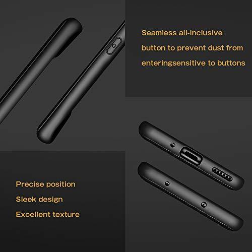 A-VIDET Hülle für Huawei Mate 30 Pro,Ultradünnes Silikon Mattierte Softschale Rundumschutz Anti-Fall Anti-Fingerabdruck Gehäuse Einfache Rückenschutzhülle für Huawei Mate 30 Pro (Schwarz) - 2