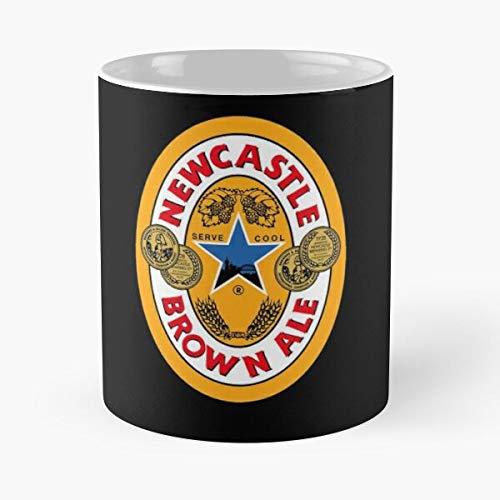 5TheWay Newcastle Brown Ale Mug Taza de café de Regalo de Moda Superventas Negra, Blanca, Cambia de Color 11 onzas, 15 onzas para Todos
