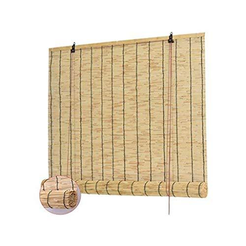 MJIA Cortina de caña de sombrilla, persianas de Roller de bambú Vintage, con persianas de bambú de elevación, para Patio-balcón-jardín-Interior-al Aire Libre (Size : 1.2 * 3m)