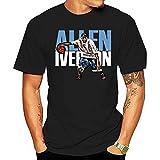 Men's The Streetball Allen-Lverson_ T-Shirt Funny Tee Short-Sleeve Women Men T-Shirt Customized T Shirt Black