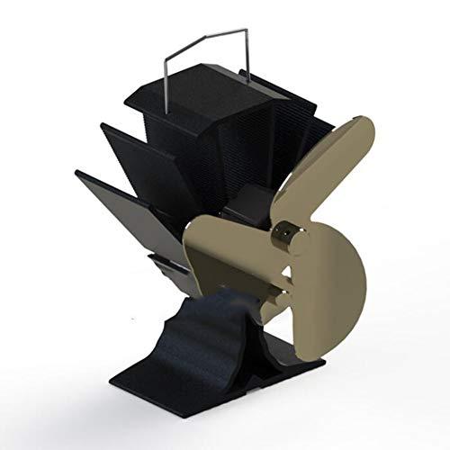 Cakunmik Fan de la Estufa de Navidad de 4 Cuchillas, amigable ecológico Estufa silenciosa de la Estufa de Calor para pellets/Estufa de leña, Chimenea, proyectos de circulación Decoración navideña,C