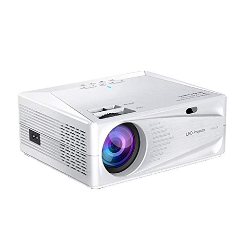 HD Smart Projector, Home 3200 Lumens Black Proyector WiFi Inicio Oficina Proyector portátil Mini Proyector de Video LED,Blanco