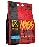 Mutant Mass Weight Gainer Protein Powder – Build Muscle Size and Strength with 1100 Calories – 56 g Protein – 26.1 g EAAs – 12.2 g of BCAAs – 15 lbs with 24 Servings – Cookies & Cream