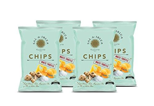 Chips a la Flor de Sal mit weißem Trüffel von Sal de Ibiza 4 x 125 gr