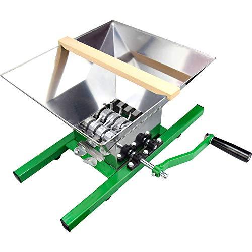 NBSXR Molinillo triturador de Vino de Manzana de Acero Inoxidable de Fruta 7L, fácil de ensamblar, Gran Capacidad, Molinillo exprimidor Manual, para Molinillo exprimidor de Sidra Manual