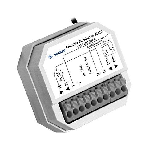 Becker Funkempfänger VarioControl VC520, potenzialfrei, Unterputz, 868,3 MHz, für Markisen und Jalousien