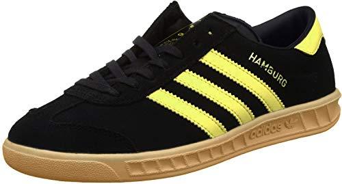 adidas Hamburg, Zapatillas de Deporte para Hombre, Negro (Negbas/Eqtama/Ftwbla), 36.5 EU