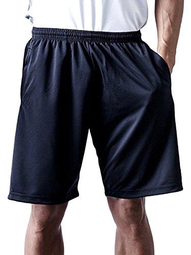 ティーシャツドットエスティー ハーフパンツ ドライ 無地 ポケット付き UVカット 4.4oz メンズ ブラック 5L