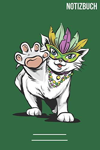 Notizbuch quadratisch Katzen Maske: A5 Notebook • 111 Seiten • Extra Kalender 2020 • Einzigartig • Kariert • Karriert • karo • Geschenk • Geschenkidee