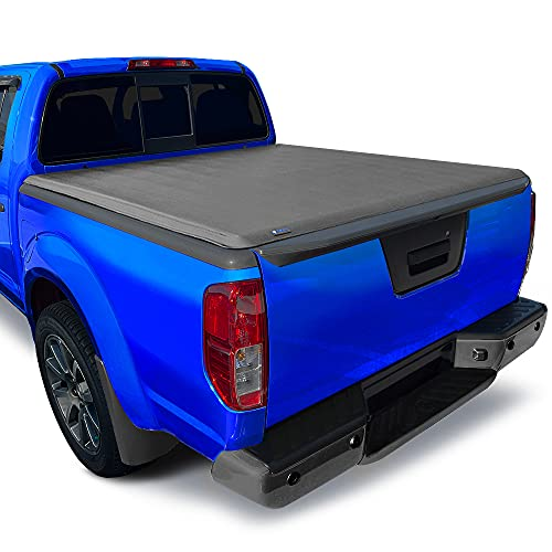 Tyger Auto T3 Soft Tri-Fold Truck Bed Tonneau Cover Compatible with 2005-2021 Nissan Frontier; 2009-2012 Suzuki Equator | Fleetside 5' Bed (60') | TG-BC3N1028, Black