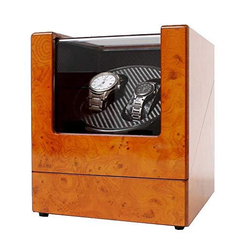 LULUTING Watch Winder Plaza automática de Doble Watch Winder Box Dos Fuentes de alimentación de Silencio Duradero for 2 Relojes