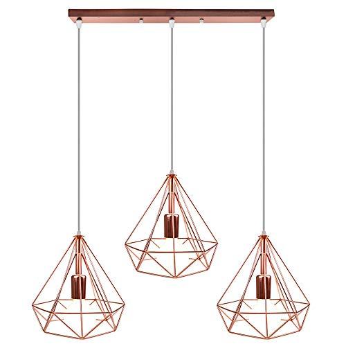 STOEX Nórdico Lámpara de Techo Colgante Retro Industrial Lámpara Colgante 3 Luces...