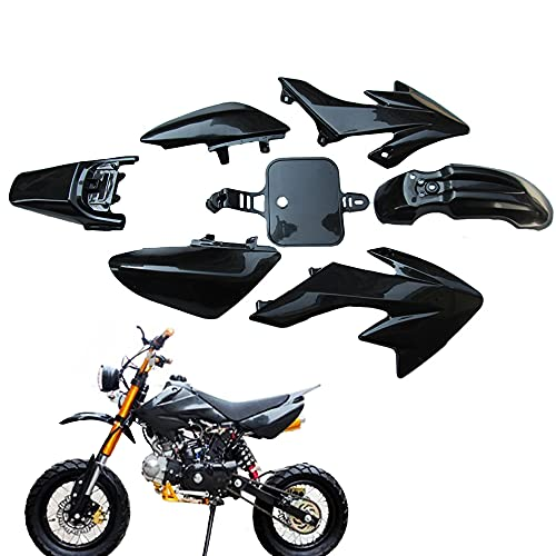 VDYXEW Plastique Noir Carénage pour Honda CRF XR 50 CRF 125 cc SSR Pro Pit Dirt bike (noir)