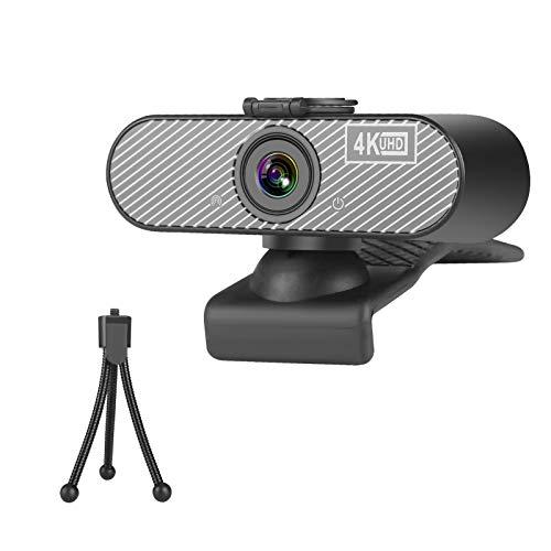 Webcam con microfono Full HD 4K Webcam per laptop, computer, PC, Mac, Plug & Play Streaming Webcam per streaming live streaming, apprendimento di YouTube, conferenze, giochi