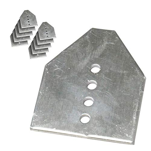10 x Conservatory Roof End Plate Aluminium Stop Slipped Polycarbonate & Glass Panels