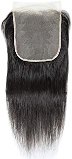 Transparent Lace Human Hair 7x7 Lace Closure Straight 7x7 Transparent Lace Closure Osolovely Hair (14inch, natural)