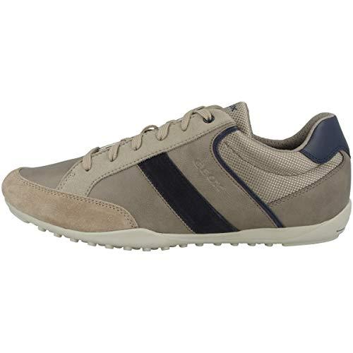 Geox Uomo Scarpe Stringate Basse U GARLAN, Uomini Sneaker, Lacci,Scarpe da Strada,Scarpe Stringate,Sportivo,Elegante,Casuale,Beige,42 EU / 8 UK