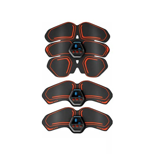 Shapewear Electroestimulador Muscular Abdominales Cinturón,Abdomen/Brazo/Piernas/Cintura,Entrenador Inalámbrico Portátil de 10 Modos de Simulación,20 Niveles Diferentes para Abdomen/Cintura.