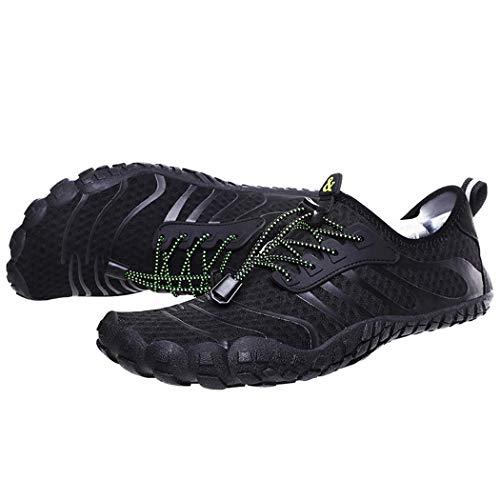 GGPUS Unisex sneakers, outdoor wattenschoenen, heren en vrouwen vijf-vinger strand zwemschoenen, paddle schoenen, zwart, 43/44