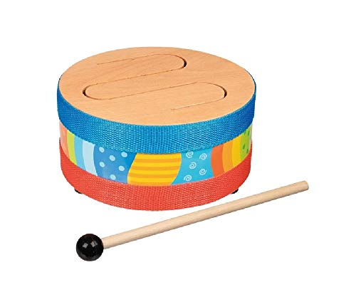 Bavaria Home Style Collection- Kinder Musikinstrument - Musik-Set - Trommel - Schlitztrommel