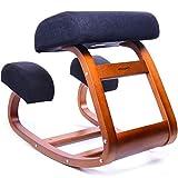 Ergonomic Office Chair, WishaLife Kneeling Chair Rocking Posture Wood Stool for Home Office & Desk...
