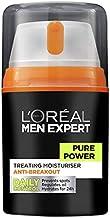L'Oréal Paris Men Expert Pure Power Moisturiser For Men, for Oily Skin and Breakouts, 50ml