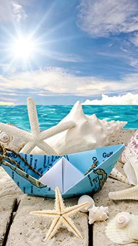 NOBRAND Puzzles 1000 Piezas de Rompecabezas Regalos para niños Adultos Obras de Arte Hechas a Mano soleadas Estrellas de mar de Playa