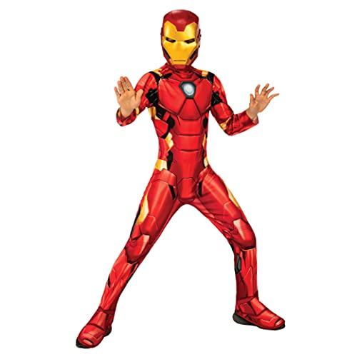 Rubie's - Déguisement Classique Officiel - Iron Man, enfant, I-702024M, Taille M 7 à 8 ans, Rouge