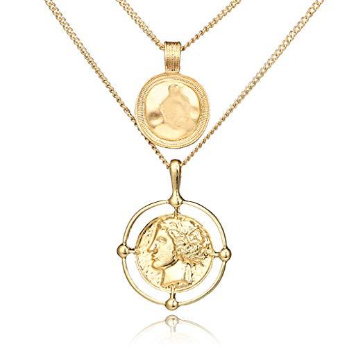 A0127 - Colgante con diseño de retrato dorado y colgante de pañales de reina, hebilla de cristal incrustado para mujer, accesorios de moda