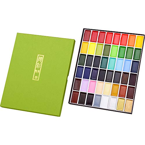 Kuretake Gansai Tambi Watercolors, 48 Colors