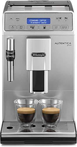 De\'Longhi Autentica Plus - Cafetera Superautomática Espresso y Cappuccino, Depósito de Agua 1.4 l, Pantalla LCD y Panel Táctil, Acero Inoxidable, Molinillo Silencioso, 1450 W, ETAM 29.620.SB, Plata