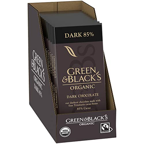 Green & Black's Organic 85% Cacao Dark Chocolate Bar, 3.17 Oz, 10 ct