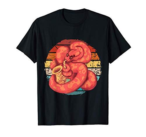 Vintage Schlangen Saxophon, Schlangen Saxophonist T-Shirt