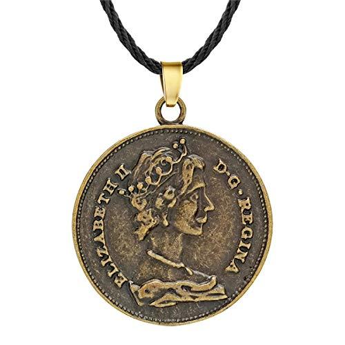 ShSnnwrl Collar Punk eslavo Amuleto nórdico Cuervo Hacha águila Colgante Collares para Mujeres Hombres Regalo Vikingo pagano talismán joyer