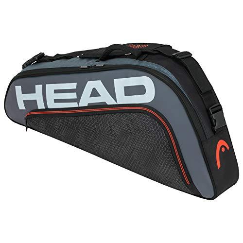 Head Tour Team 3R Pro Bolsa de Tenis, Adultos Unisex, Negro/Gris
