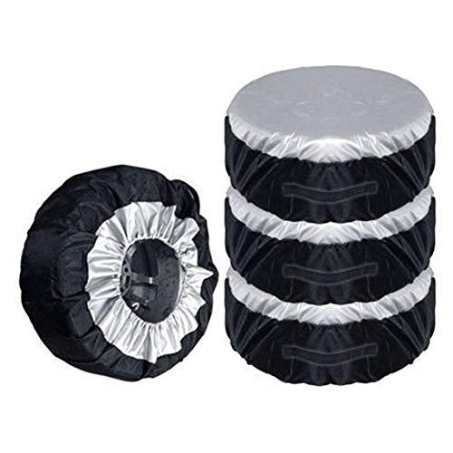 NSGJUYT 1/2 / 4pcs Cubierta de Repuesto de neumáticos Rueda a Prueba de UV Bolsas de Almacenamiento de neumáticos Caja de neumáticos Protección de neumáticos Cubierta Impermeable Coche Ligero