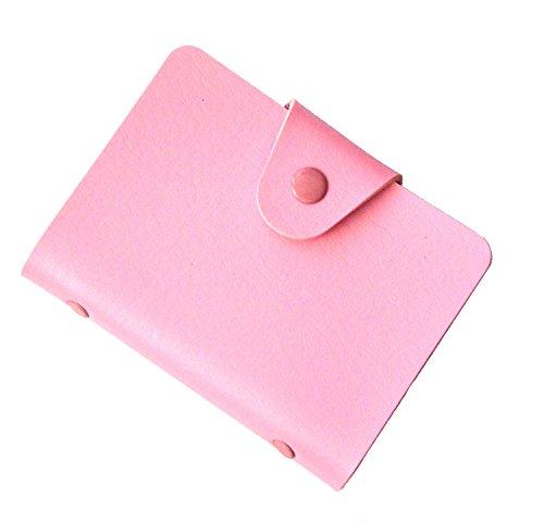 Brilliance Co Porta Carte Di Credito 24 Spazi (Rosa)