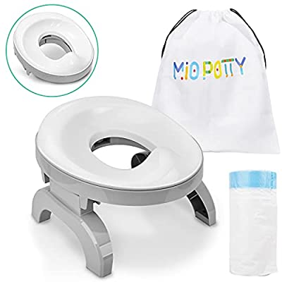 BATTOP Potty Training Seat for Toddler Portable Foldable Travel 2-in-1 Toilet Training Seats Indoor Outdoor with Potty Liners Carry Bag (2-in-1 Potty seat) from BATTOP