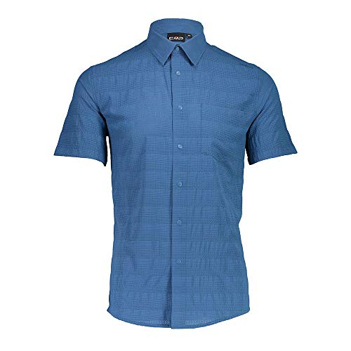 CMP Slim Fit Shirt with Stretch Fabric Chemise Homme, Denim, 58
